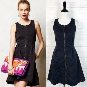 Leifsdottir • Black Tonnelle Zip Front Dress 4